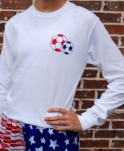 USA Soccer Girl LS Tee